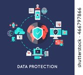 data protection international... | Shutterstock .eps vector #466797866