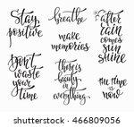lettering photography family... | Shutterstock .eps vector #466809056