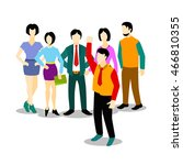 young creative business people... | Shutterstock .eps vector #466810355