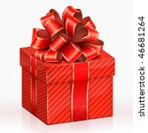 red gift box. vector... | Shutterstock .eps vector #46681264