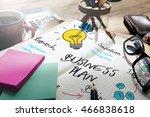 business plan design solution... | Shutterstock . vector #466838618