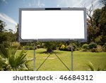 blank commercial billboard... | Shutterstock . vector #46684312