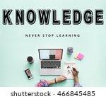 skills practice learning study... | Shutterstock . vector #466845485