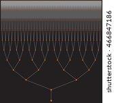 11 levels binary tree | Shutterstock .eps vector #466847186