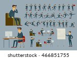 set of businessman icons... | Shutterstock .eps vector #466851755