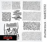 set of dirty  scratched ... | Shutterstock .eps vector #466852352