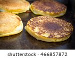 Small photo of Grilled cheese arepa sandwiches on barbecue grill for summer food background
