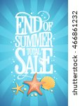 end of summer total sale design ... | Shutterstock .eps vector #466861232