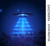 unidentified flying object on a ... | Shutterstock .eps vector #466862045