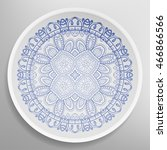 decorative plate with round...   Shutterstock .eps vector #466866566