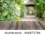 wooden table with space for... | Shutterstock . vector #466871786