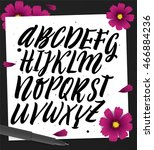 vector set with handwritten abc ... | Shutterstock .eps vector #466884236