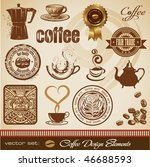 vector set  coffee design... | Shutterstock .eps vector #46688593