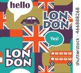 pop art british seamless pattern | Shutterstock . vector #466888268