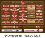 a big set of vintage cigar... | Shutterstock .eps vector #466904216