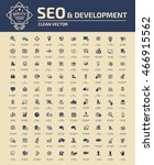 seo development icon set vector