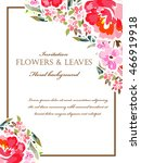 vintage delicate invitation...   Shutterstock . vector #466919918