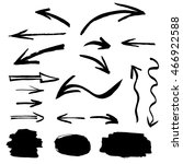 collection of hand drawn ink... | Shutterstock .eps vector #466922588