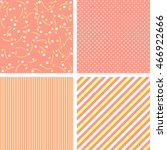 4 cute geometric patterns set... | Shutterstock . vector #466922666