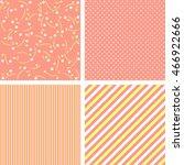 4 cute geometric patterns set... | Shutterstock . vector #466922666
