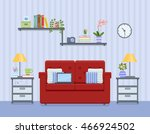 interior of living room with... | Shutterstock .eps vector #466924502