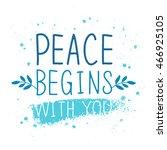 international day of peace.... | Shutterstock .eps vector #466925105
