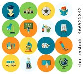 school and education icon set....   Shutterstock . vector #466925342
