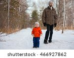 happy kid on a walk in the park.... | Shutterstock . vector #466927862