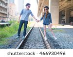 couples are traveling together  ... | Shutterstock . vector #466930496