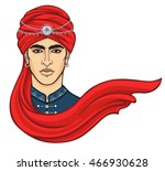 portrait of the young... | Shutterstock .eps vector #466930628