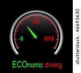 speedometer showing low speed... | Shutterstock .eps vector #46693630