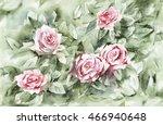 watercolor vintage background.... | Shutterstock . vector #466940648