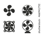 fan vector icons set.... | Shutterstock .eps vector #466941752