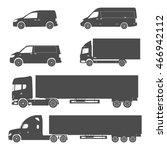 silhouette cargo truck and van... | Shutterstock .eps vector #466942112