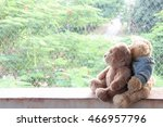 bear doll is falling in love | Shutterstock . vector #466957796