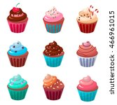 sweet cupcake  food cupcake...   Shutterstock .eps vector #466961015