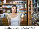 young  woman shopping various... | Shutterstock . vector #466965242