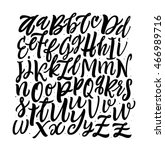 vector alphabet background.... | Shutterstock .eps vector #466989716