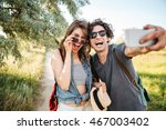 young smiling happy cheerful... | Shutterstock . vector #467003402