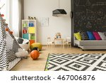 shot of a kids room with a grey ... | Shutterstock . vector #467006876