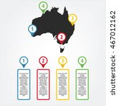 infographic of australia with... | Shutterstock .eps vector #467012162