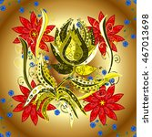 vector vivid abstract hand... | Shutterstock .eps vector #467013698