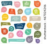 modern badges and labels... | Shutterstock .eps vector #467024246