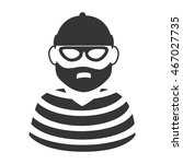 hat beard mask thief criminal... | Shutterstock .eps vector #467027735