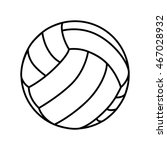 volleyball ball game sport play ... | Shutterstock .eps vector #467028932