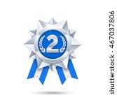 vector silver medal...
