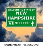 new hampshire road sign against ... | Shutterstock . vector #467052992