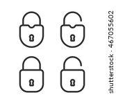 open and closed padlocks... | Shutterstock .eps vector #467055602