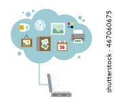 computer cloud storage | Shutterstock .eps vector #467060675