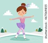 girl on skates. figure skating... | Shutterstock .eps vector #467069855